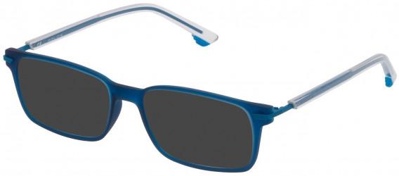 Police VK060 sunglasses in Matt Transparent Blue