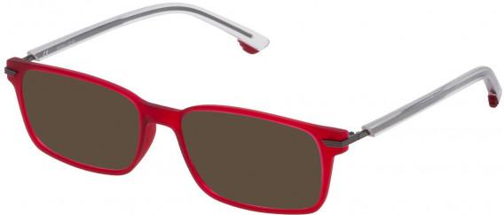 Police VK060 sunglasses in Semi Matt Red