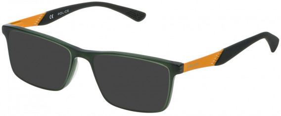 Police VK056 sunglasses in Shiny Opal Sage Green