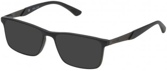 Police VK056 sunglasses in Matt/Sandblasted Black