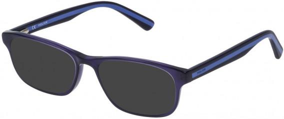 Police VK050 sunglasses in Shiny Full Blue