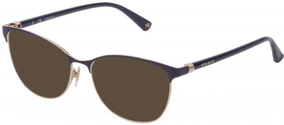 Nina Ricci VNR188 sunglasses in Shiny Rose Gold/Blue