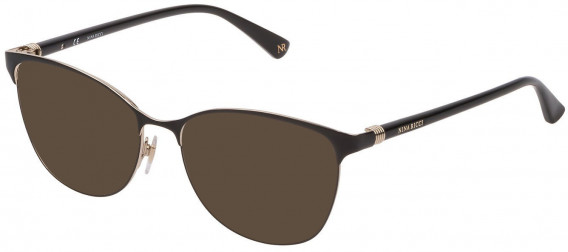 Nina Ricci VNR188 sunglasses in Shiny Black/Shiny Yellow Gold