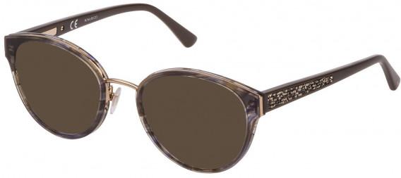 Nina Ricci VNR183S sunglasses in Striped Grey/Green