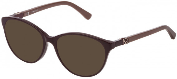 Nina Ricci VNR181 sunglasses in Shiny Full Plum