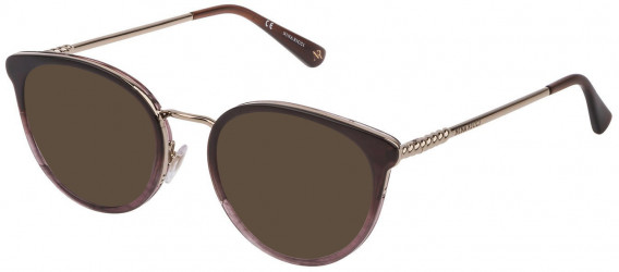 Nina Ricci VNR171 sunglasses in Shiny Plum Gradient Liliac/Brown