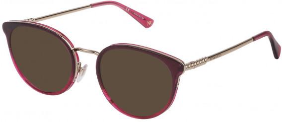 Nina Ricci VNR171 sunglasses in Gradient Bordeaux