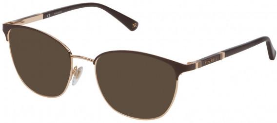 Nina Ricci VNR152 sunglasses in Rose Gold/Brown