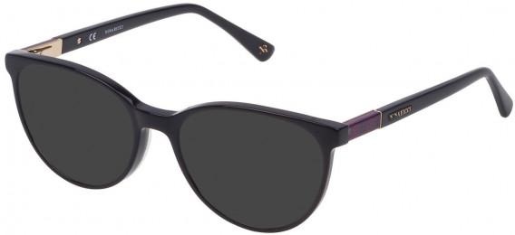 Nina Ricci VNR145 sunglasses in Shiny Full Blue