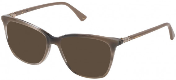 Nina Ricci VNR141S sunglasses in Shiny Striped Grey
