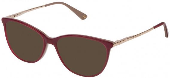 Nina Ricci VNR139 sunglasses in Full Red/Full Brown