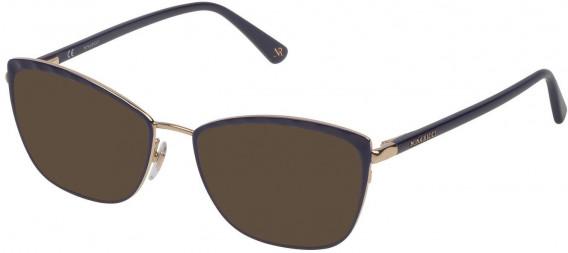 Nina Ricci VNR137 sunglasses in Shiny Rose Gold/Blue