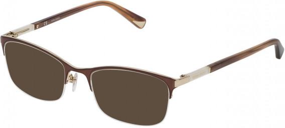 Nina Ricci VNR092 sunglasses in Rose Gold/Shiny Brown