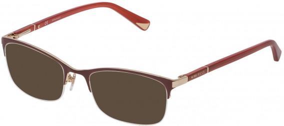 Nina Ricci VNR092 sunglasses in Shiny Rose Gold/Bordeaux