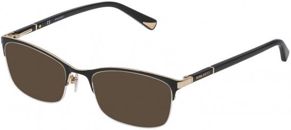 Nina Ricci VNR092 sunglasses in Rose Gold/Shiny Black