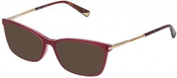 Nina Ricci VNR083 sunglasses in Shiny Full Raspberry/Full Pink