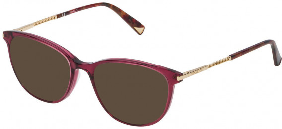 Nina Ricci VNR082 sunglasses in Shiny Transparent Fuxia