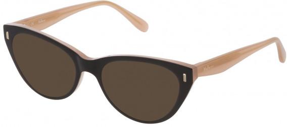 Mulberry VML052 sunglasses in Shiny Black Top/Peach