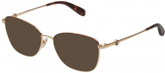 Mulberry VML050 sunglasses in Shiny Rose Gold/Havana