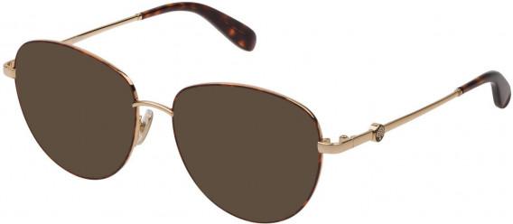 Mulberry VML044 sunglasses in Shiny Rose Gold/Havana