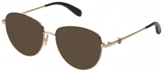 Mulberry VML044 sunglasses in Shiny Rose Gold/Black