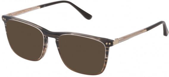 Lozza VL4221 sunglasses in Gradient Striped Black/Grey