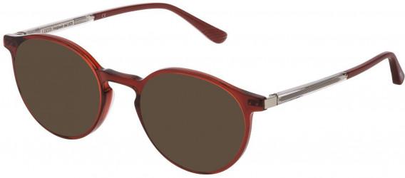 Lozza VL4211 sunglasses in Shiny Transparent Red