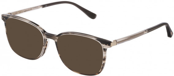 Lozza VL4210 sunglasses in Yellow Striped Yellow Havana