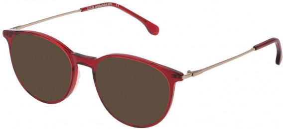 Lozza VL4197 sunglasses in Shiny Transparent Bordeaux Red