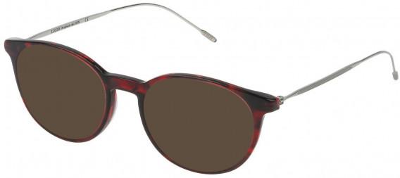 Lozza VL4173 sunglasses in Shiny Striped Red