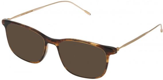 Lozza VL4172 sunglasses in Shiny Striped Brown/Mustard
