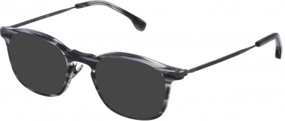 Lozza VL4143 sunglasses in Shiny Striped Grey Havana