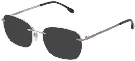 Lozza VL2349 sunglasses in Shiny Full Palladium