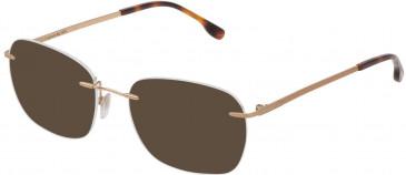 Lozza VL2349 sunglasses in Shiny Rose Gold