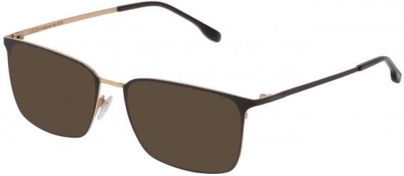 Lozza VL2342 sunglasses in Rose Gold/Semi Matt Black