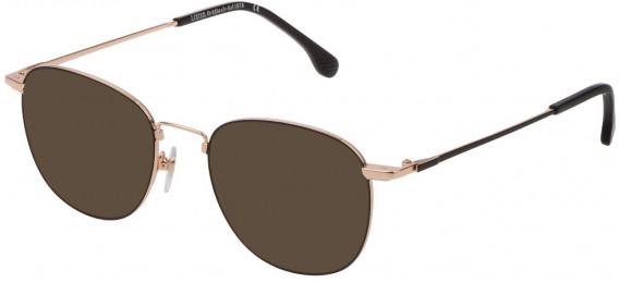 Lozza VL2331 sunglasses in Shiny Rose Gold/Black