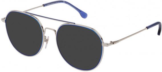 Lozza VL2330 sunglasses in Shiny Palladium/Matt Avio