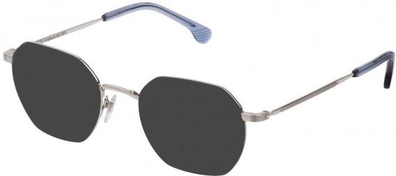 Lozza VL2329 sunglasses in Shiny Palladium/Matt Blue