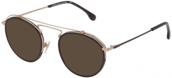 Lozza VL2316V sunglasses in Shiny Rose Gold/Matt Black