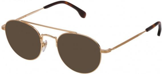 Lozza VL2308 sunglasses in Shiny Rose Gold/Sandblasted Satin