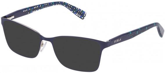 Furla VU4350 sunglasses in Shiny Silver/Blue