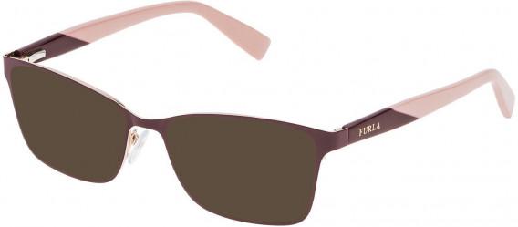 Furla VU4350 sunglasses in Shiny Rose Gold/Bordeaux