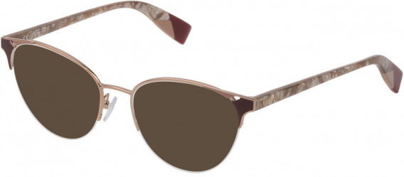 Furla VFU361 sunglasses in Shiny Camel/Coloured