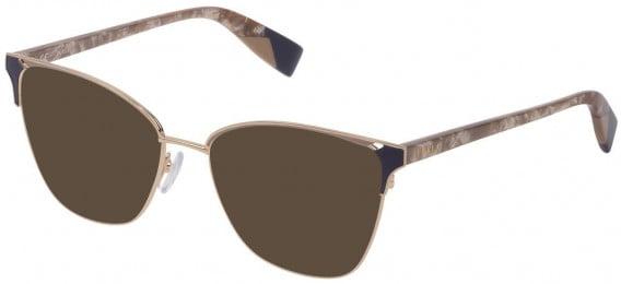 Furla VFU360 sunglasses in Shiny Rose Gold/Coloured