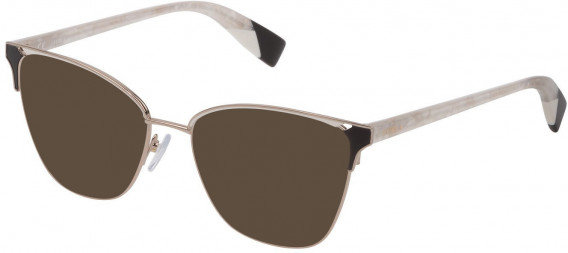 Furla VFU360 sunglasses in Shiny Light Gold/Coloured