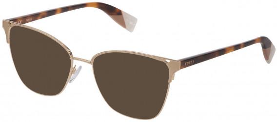 Furla VFU360 sunglasses in Shiny Rose Gold