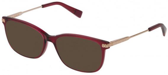 Furla VFU354 sunglasses in Shiny Transparent Raspberry