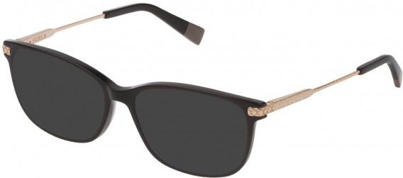 Furla VFU354 sunglasses in Shiny Black