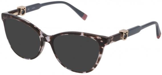 Furla VFU353 sunglasses in Shiny Grey/Black Havana
