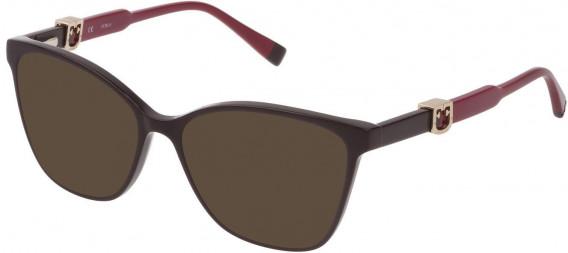 Furla VFU352 sunglasses in Shiny Dark Plum